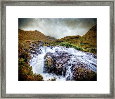 Falls Of Glencoe Framed Print by Ray Devlin