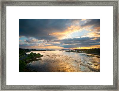 Falls Of Lora Framed Print