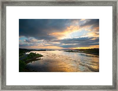 Falls Of Lora Framed Print by Ray Devlin