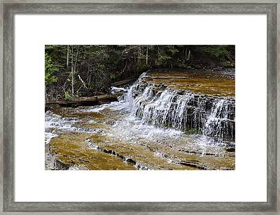 Falls Of The Au Train Framed Print