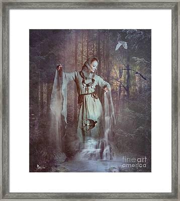 Falls Of The Secret Woods Framed Print