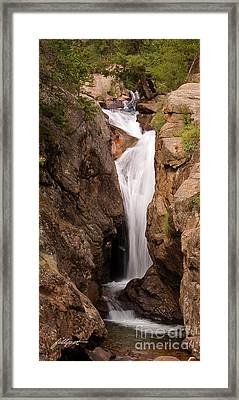 Falls On Falling River Framed Print