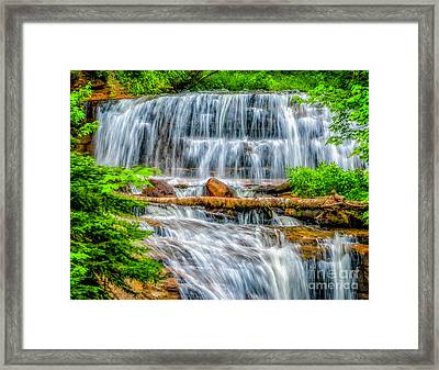 Framed Print featuring the photograph Falls On Sable Creek by Nick Zelinsky