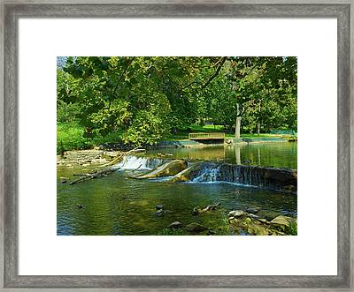 Falls Park Framed Print by Mountain Dreams
