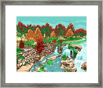 Falls Park Framed Print by Rachelle Petersen