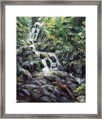 Framed Print featuring the painting Falls  by Paul Weerasekera