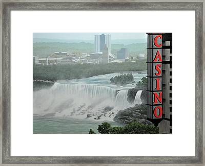 Falls View Framed Print by Kenneth M  Kirsch