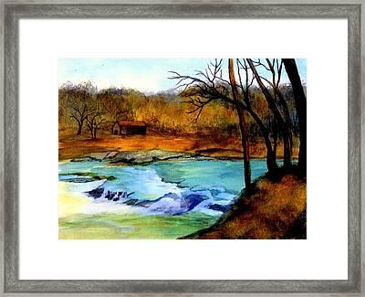 Fallsburg Ky Falls Framed Print by Gail Kirtz