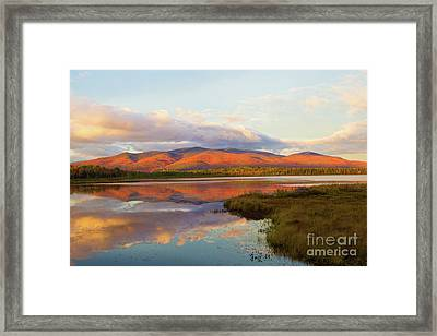 Fallsets On Cherry Pond Framed Print by Lloyd Alexander