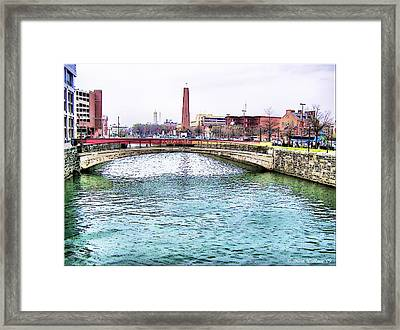 Framed Print featuring the photograph Fallswalk And Shot Tower by Brian Wallace