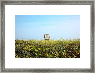 Framed Print featuring the photograph Falmouth Beach Open 9-5 by Madeline Ellis