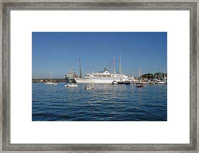 Falmouth Harbour Framed Print by Rod Johnson