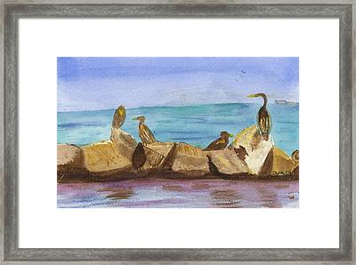 Framed Print featuring the painting Falmouth Mass by Donna Walsh