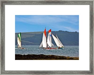 Falmouth Reggatta  Framed Print by Brian Roscorla