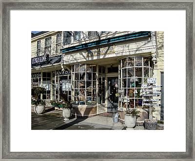 Falmouth Shops Framed Print by Frank Fernino