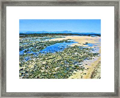 False Bay Low Tide Framed Print by Jan Hattingh