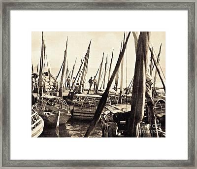Falucas In Havana Harbor In 1898 Framed Print by William B Townsend