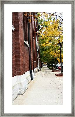 Familair Streets To An Old Women Framed Print