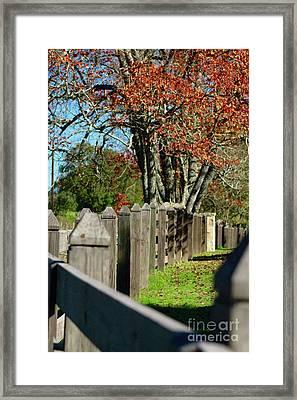 Framed Print featuring the photograph Familiar Fall by Lori Mellen-Pagliaro