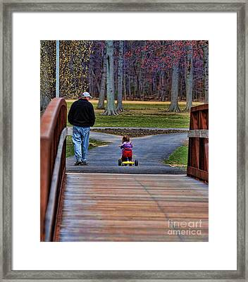 Family - A Father's Love Framed Print by Paul Ward
