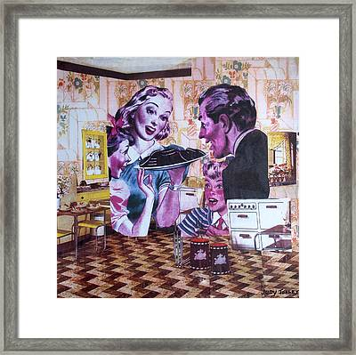 Family Affair Framed Print by Judy Tolley