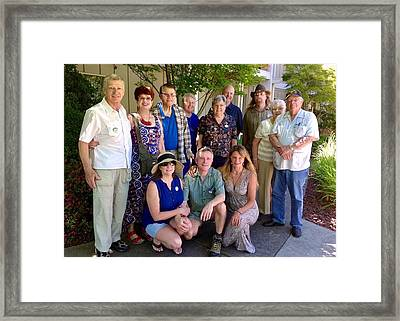 Family And Friends Reunion Framed Print