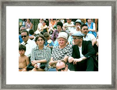 Framed Print featuring the photograph Family At The Races by Douglas Pike
