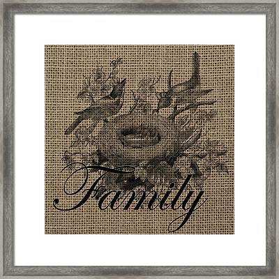 Family Birds 2 Framed Print