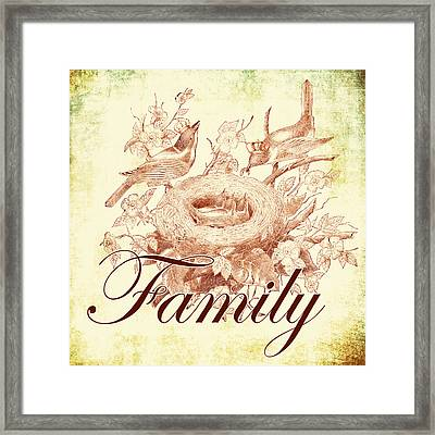 Family Birds 1 Framed Print