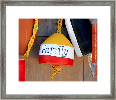 Family Buoy Framed Print