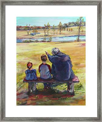 Family By Kim Guthrie Art Framed Print by Kim Guthrie