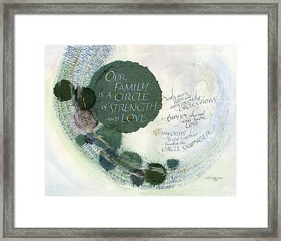 Family Circle Framed Print