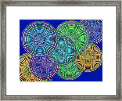 Family Circles Of Harmony 2 Framed Print by Tony Rubino