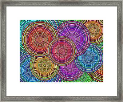 Family Circles Old And Young Unite 1 Framed Print by Tony Rubino