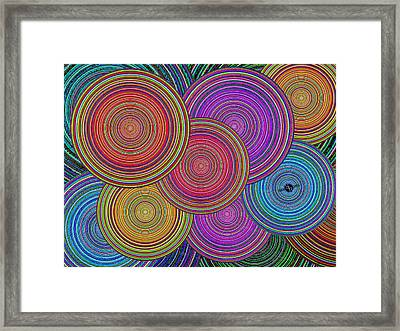 Family Circles Old And Young Unite 2 Framed Print by Tony Rubino