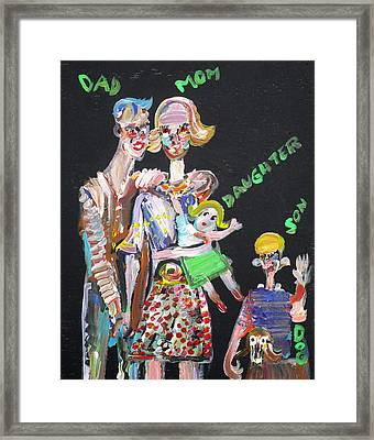 Framed Print featuring the painting Family Day by Fabrizio Cassetta
