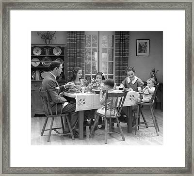 Family Dinner, C.1930s Framed Print by H. Armstrong Roberts/ClassicStock