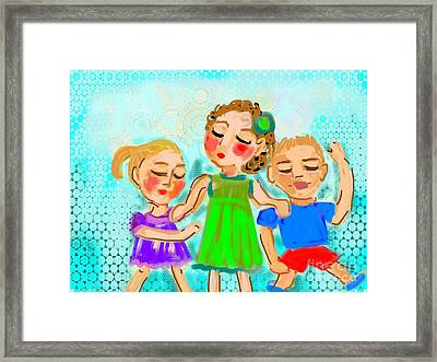 Framed Print featuring the digital art Family Fun by Elaine Lanoue
