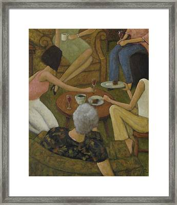 Family Gathering Framed Print by Glenn Quist