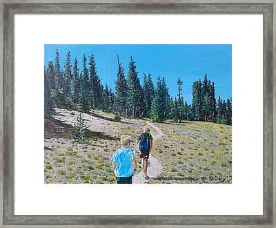 Family Hike Framed Print