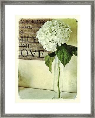 Family, Home, Love Framed Print