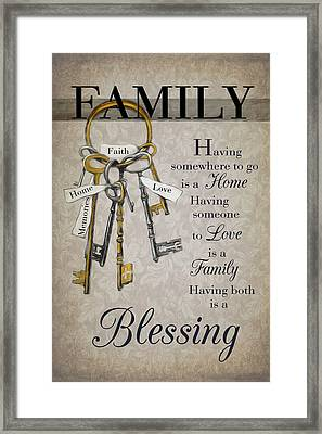 Framed Print featuring the photograph Family Is A Blessing by Robin-Lee Vieira