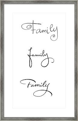 Family Lettering - Ai Framed Print by Gillham Studios