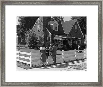 Family Looking At New Home, C.1950s Framed Print by H. Armstrong Roberts/ClassicStock