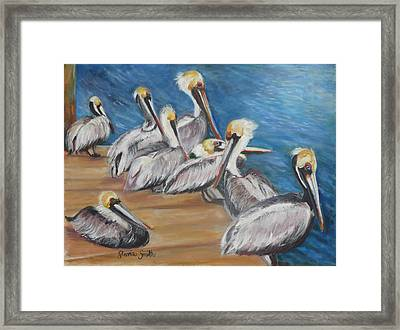 Family Meeting Framed Print by Gloria Smith