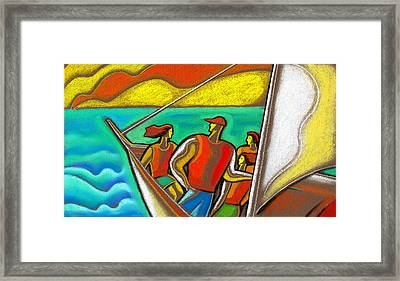 Family On Vacation Framed Print
