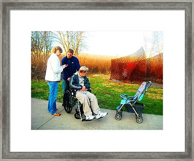 Family Outing  Framed Print by Ward Smith