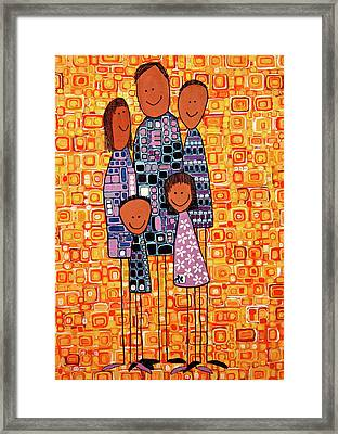 Framed Print featuring the painting Family Portrait by Donna Howard