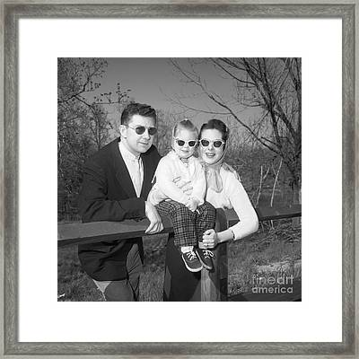 Family Portrait With Sunglasses, C.1950s Framed Print