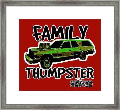 Family Thumpster Framed Print by George Randolph Miller